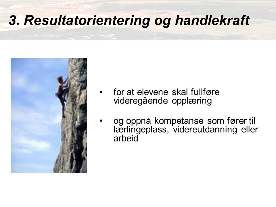 3. Resultatorientering og handlekraft