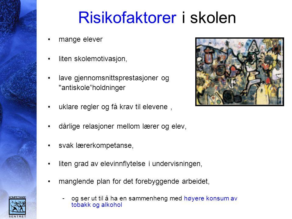 Risikofaktorer i skolen
