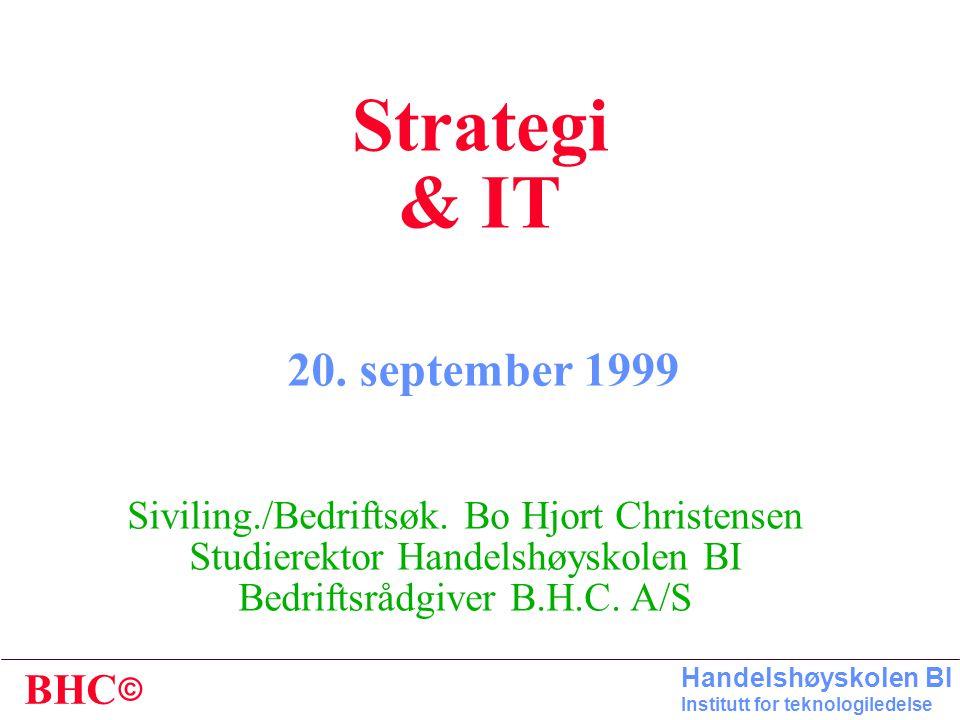 Strategi & IT 20. september 1999