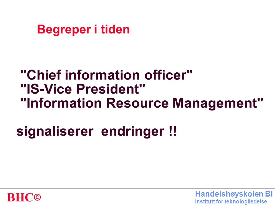 Chief information officer IS-Vice President