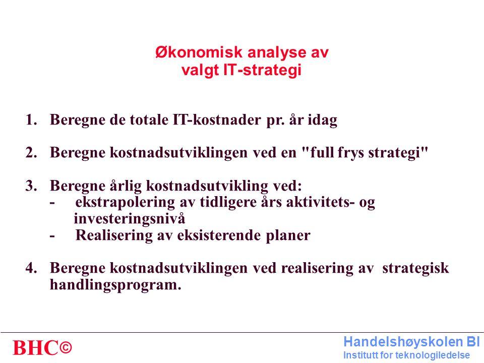 Økonomisk analyse av valgt IT-strategi