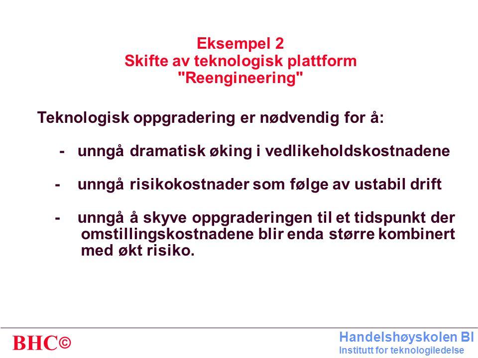 Eksempel 2 Skifte av teknologisk plattform Reengineering