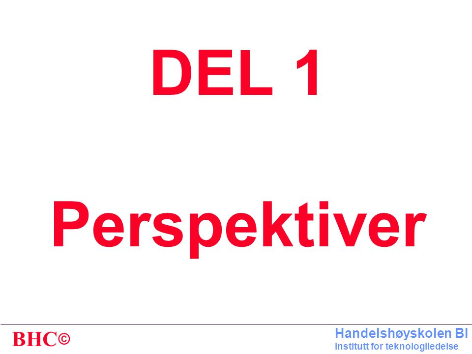 DEL 1 Perspektiver