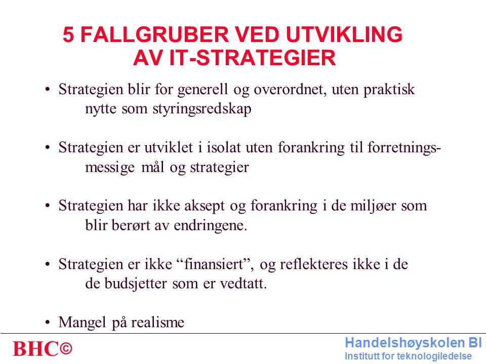 5 FALLGRUBER VED UTVIKLING AV IT-STRATEGIER