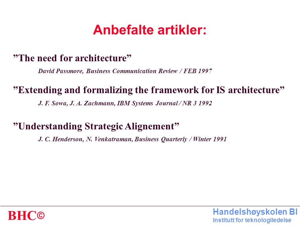 Anbefalte artikler: The need for architecture