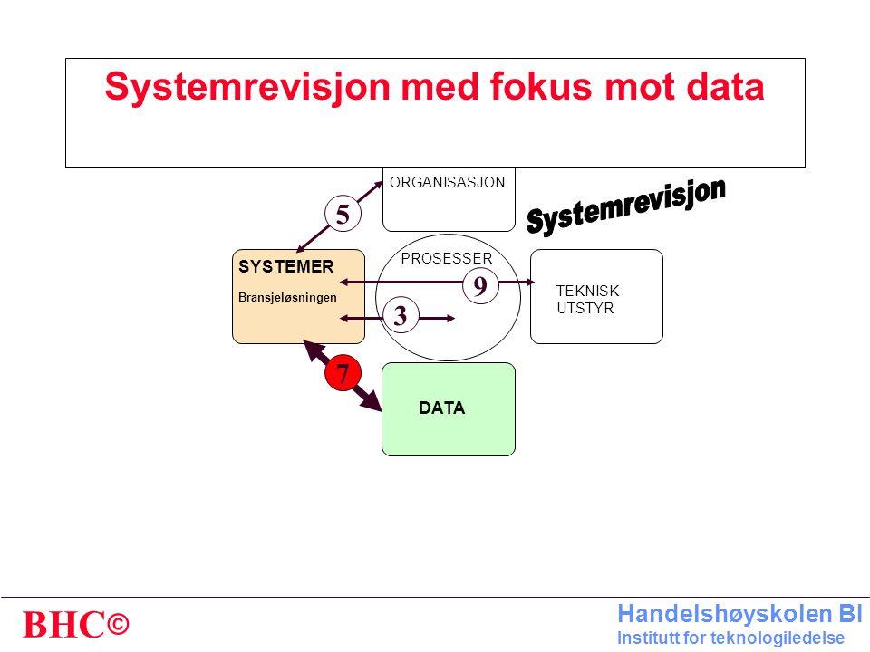 Systemrevisjon med fokus mot data
