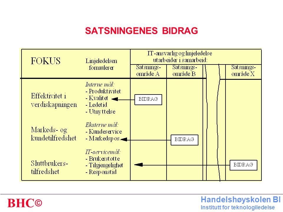 SATSNINGENES BIDRAG