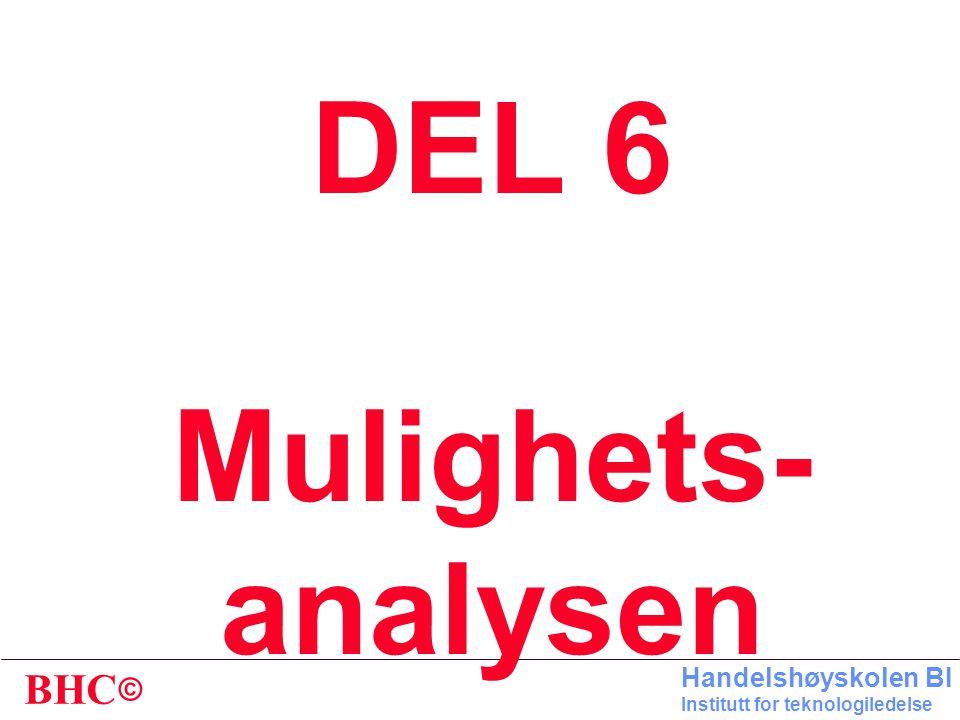 DEL 6 Mulighets- analysen