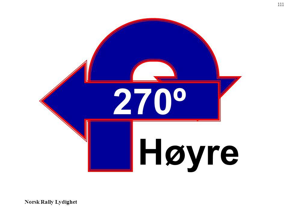 111 270º Høyre