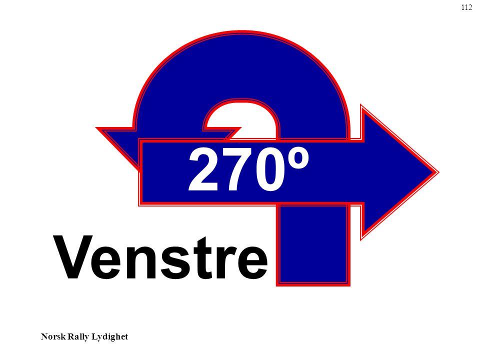 112 270º Venstre