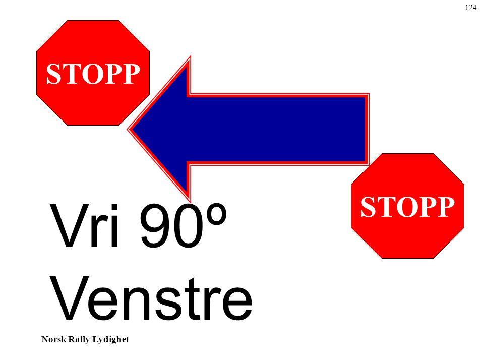 124 STOPP STOPP Vri 90º Venstre