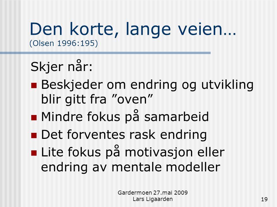 Den korte, lange veien… (Olsen 1996:195)