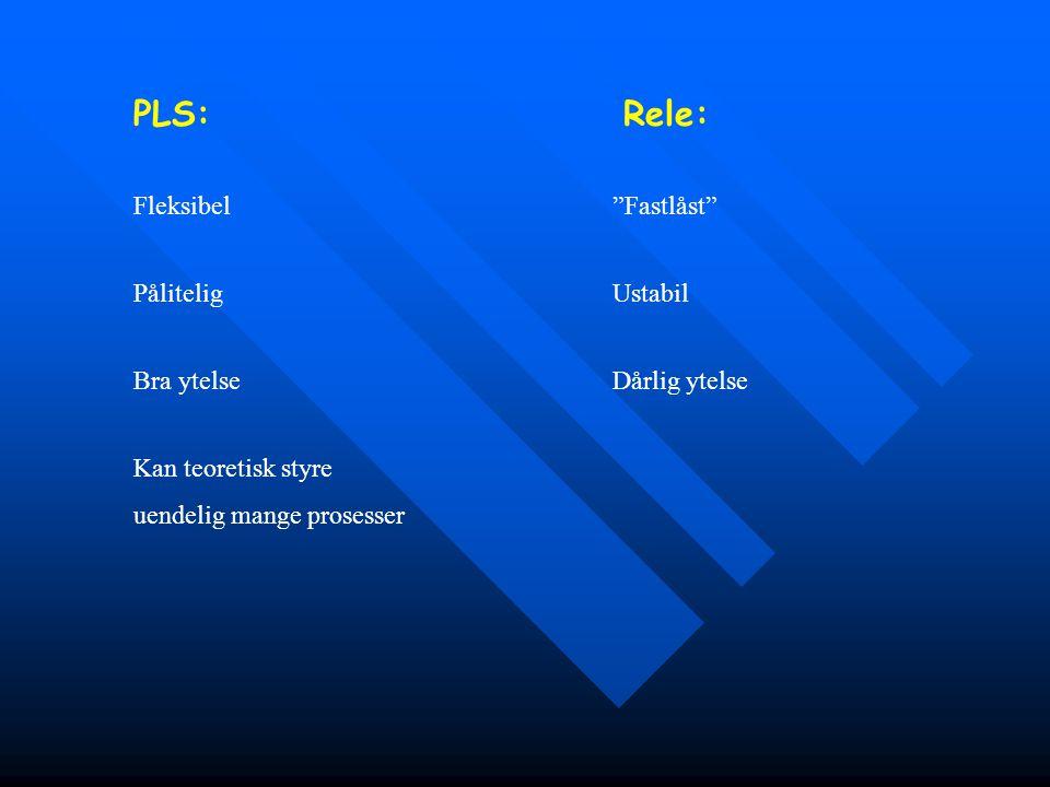 PLS: Rele: Fleksibel Fastlåst Pålitelig Ustabil