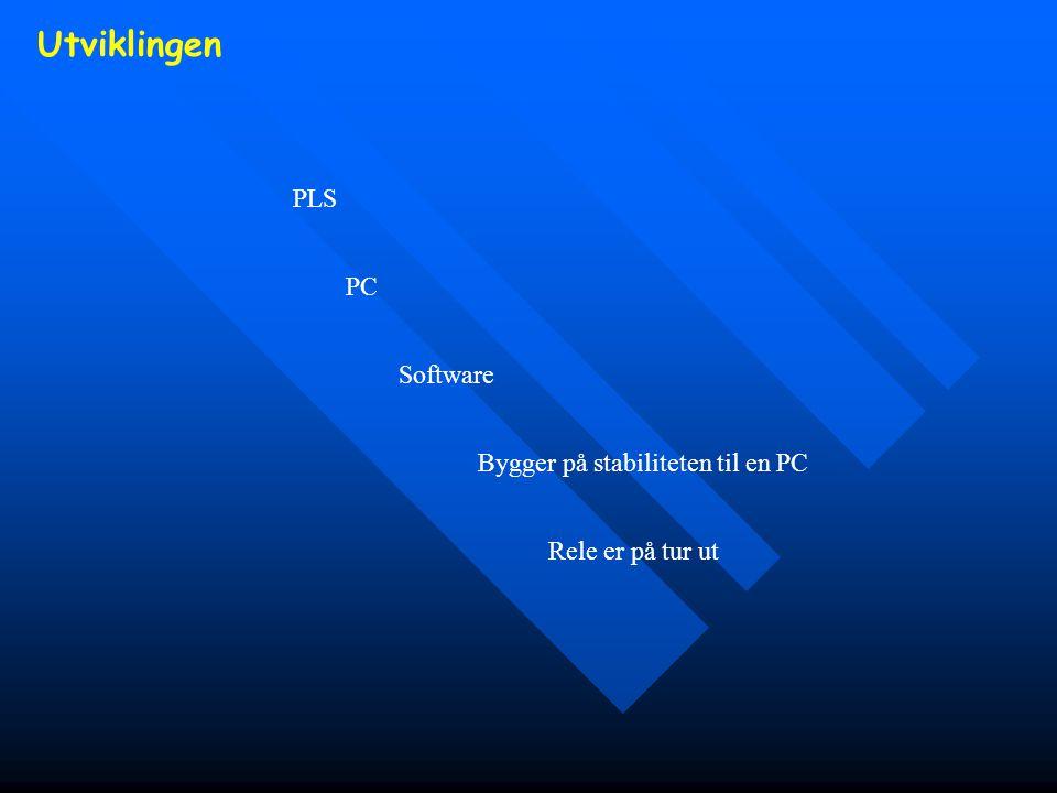 Utviklingen PLS PC Software Bygger på stabiliteten til en PC