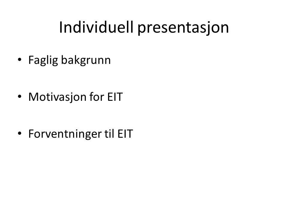 Individuell presentasjon