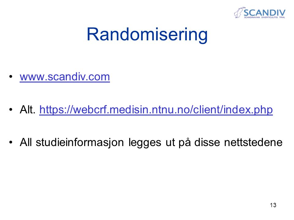 Randomisering www.scandiv.com