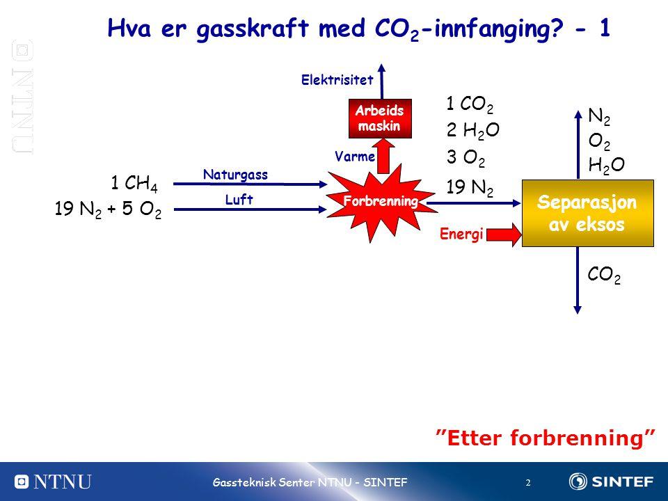 Hva er gasskraft med CO2-innfanging - 1