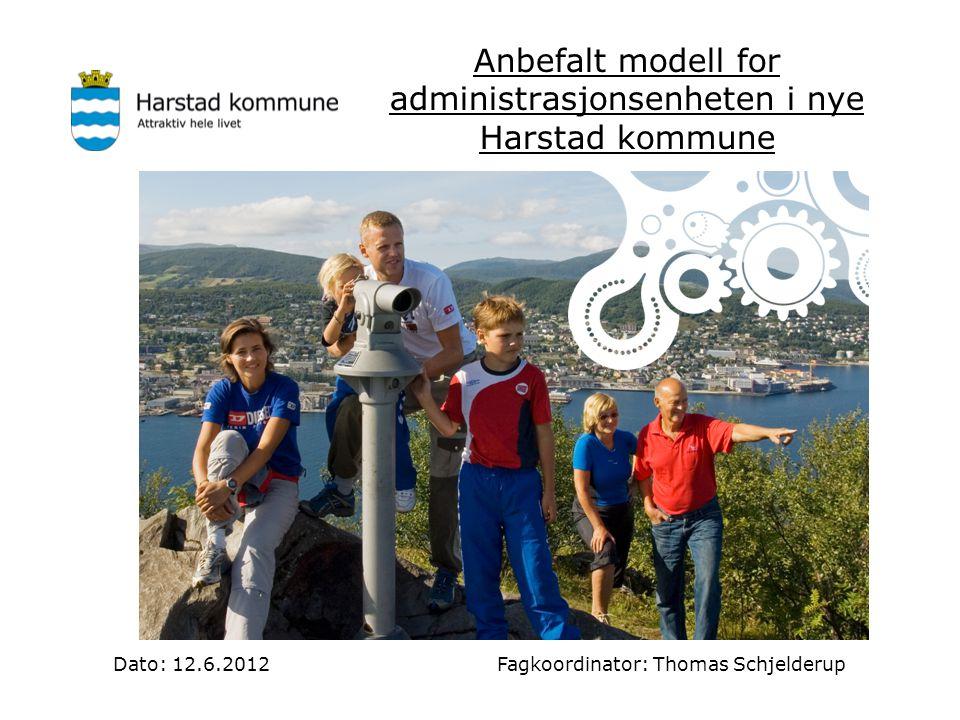 Anbefalt modell for administrasjonsenheten i nye Harstad kommune