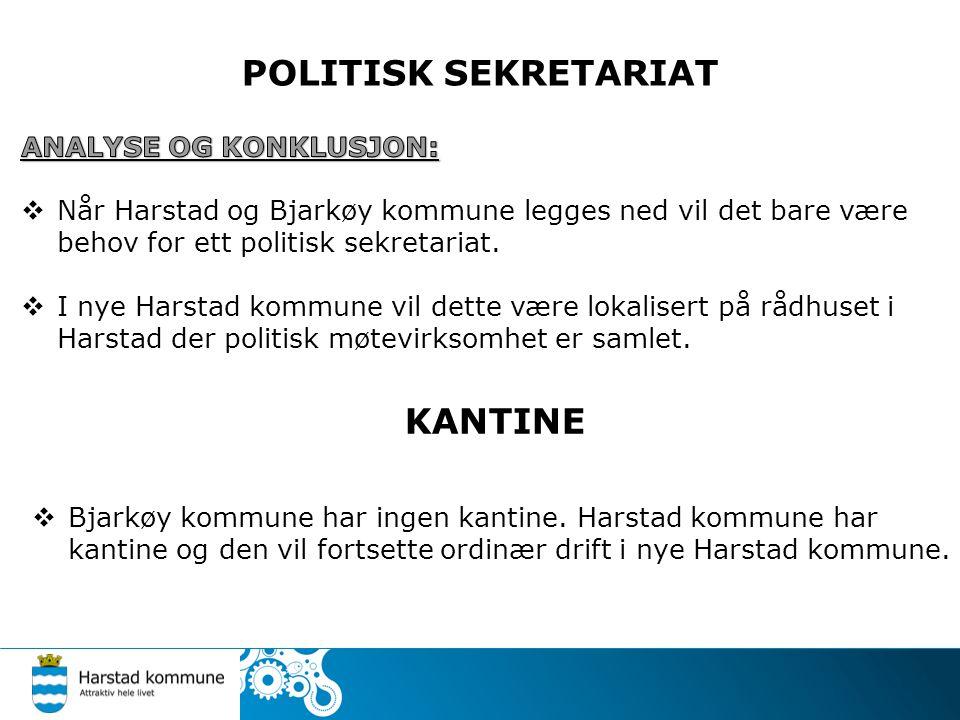 POLITISK SEKRETARIAT KANTINE