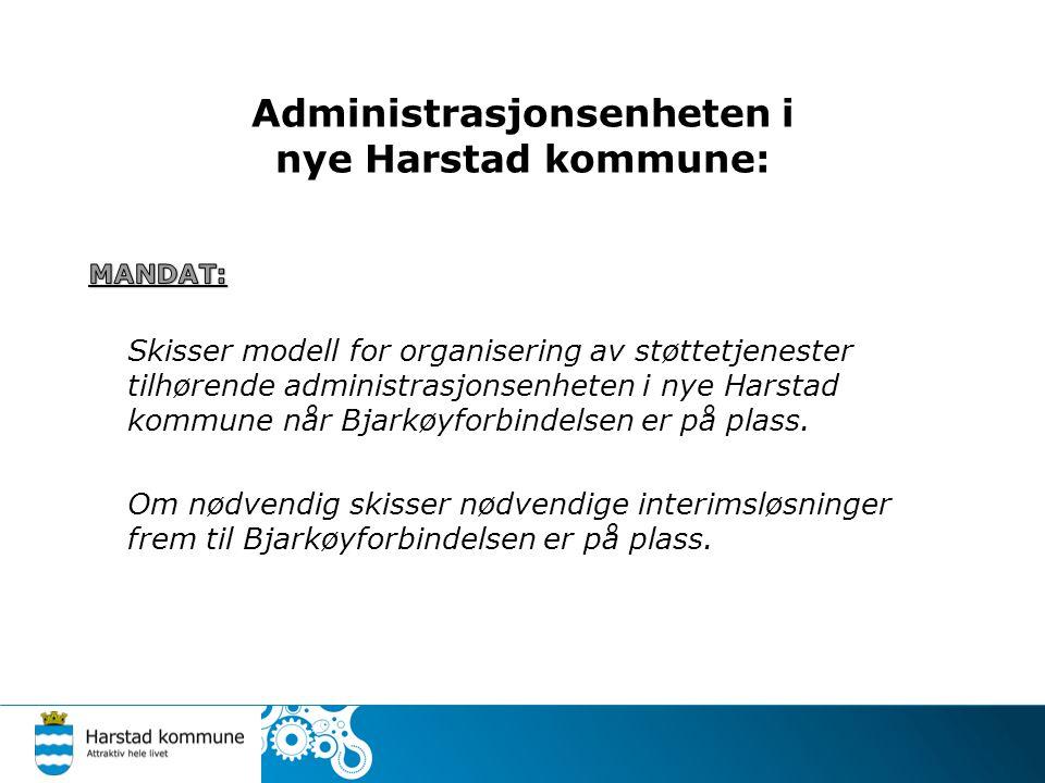 Administrasjonsenheten i nye Harstad kommune: