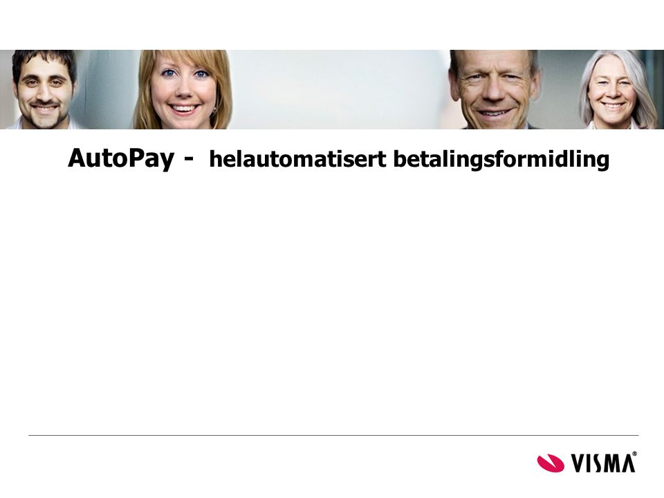 AutoPay - helautomatisert betalingsformidling