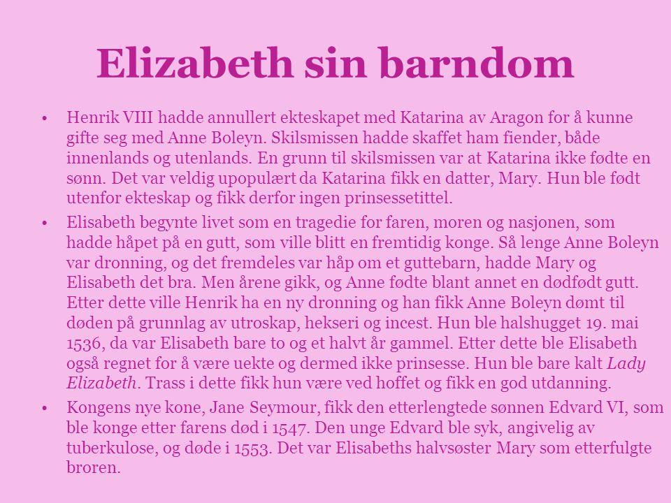 Elizabeth sin barndom