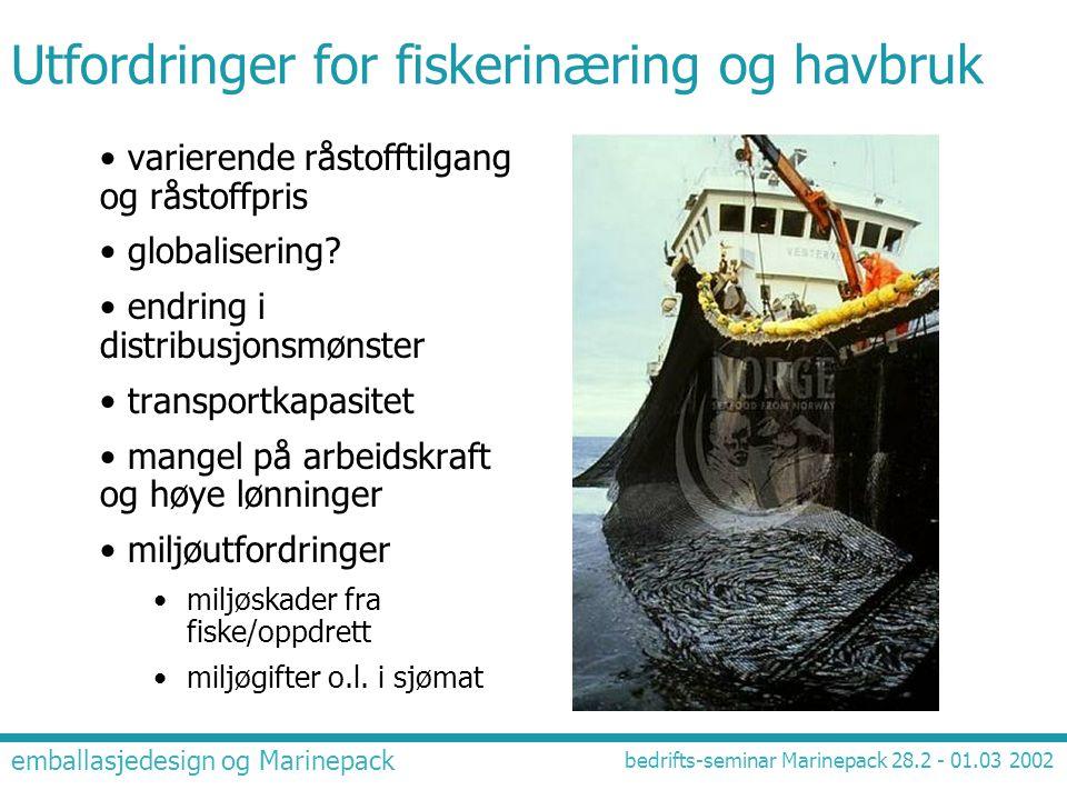 Utfordringer for fiskerinæring og havbruk