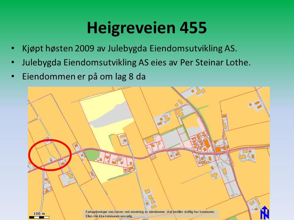 Heigreveien 455 Kjøpt høsten 2009 av Julebygda Eiendomsutvikling AS.