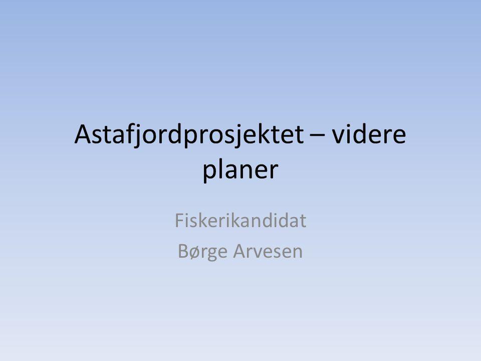 Astafjordprosjektet – videre planer