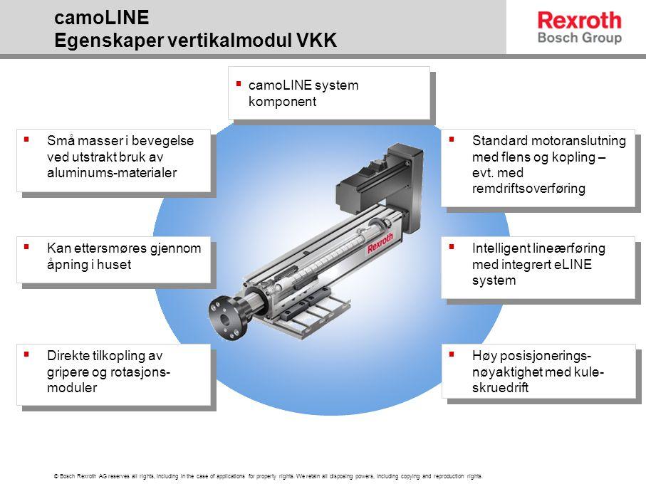 camoLINE Egenskaper vertikalmodul VKK