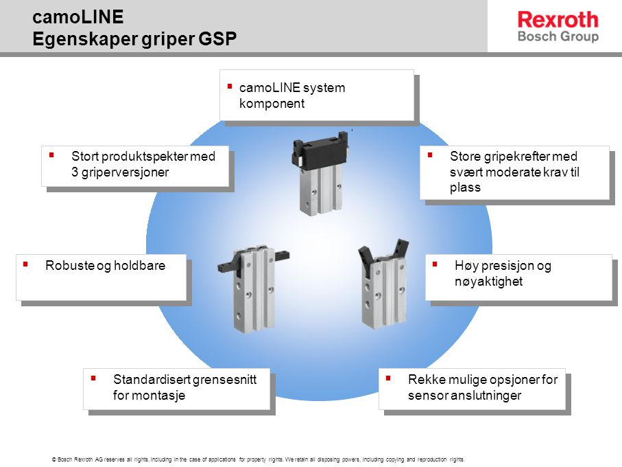 camoLINE Egenskaper griper GSP