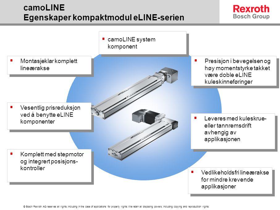 camoLINE Egenskaper kompaktmodul eLINE-serien