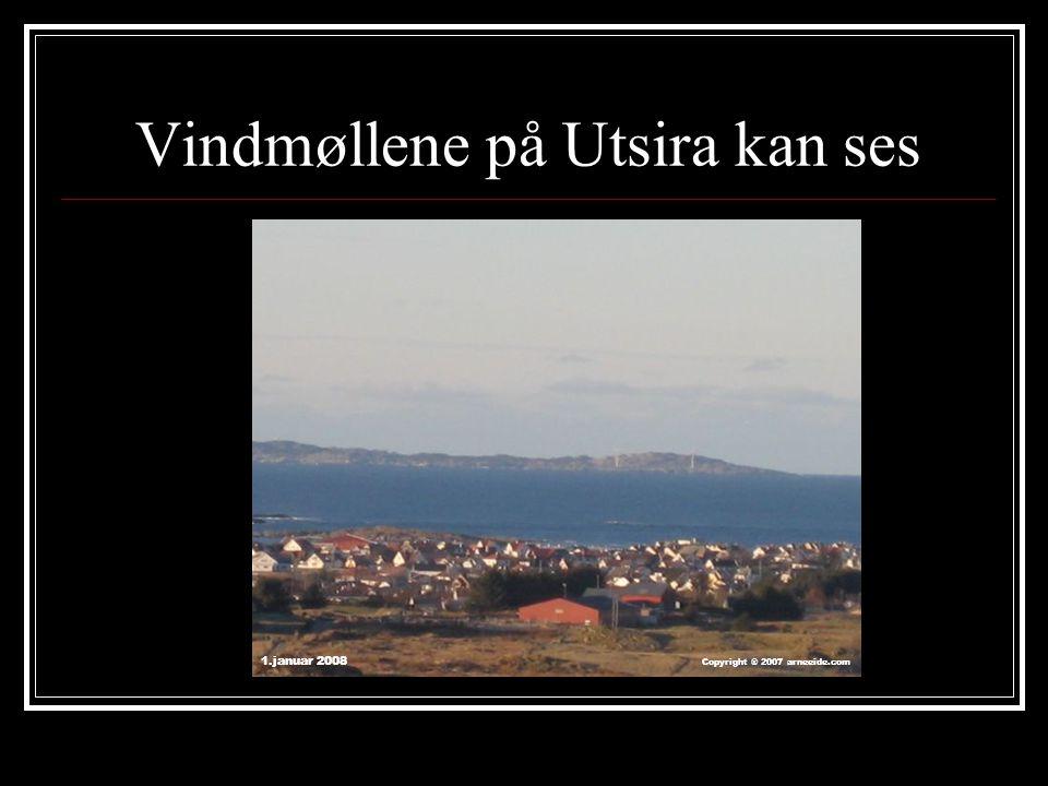 Vindmøllene på Utsira kan ses