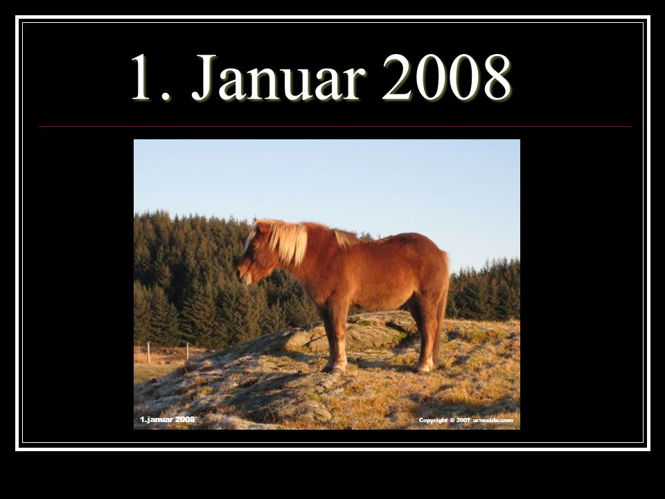 1. Januar 2008 1.januar 2008 Copyright ® 2007 arneeide.com
