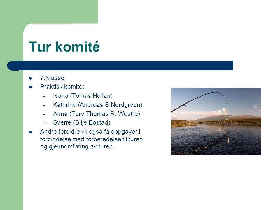 Tur komité 7.Klasse Praktisk komité: Ivana (Tomas Hollan)