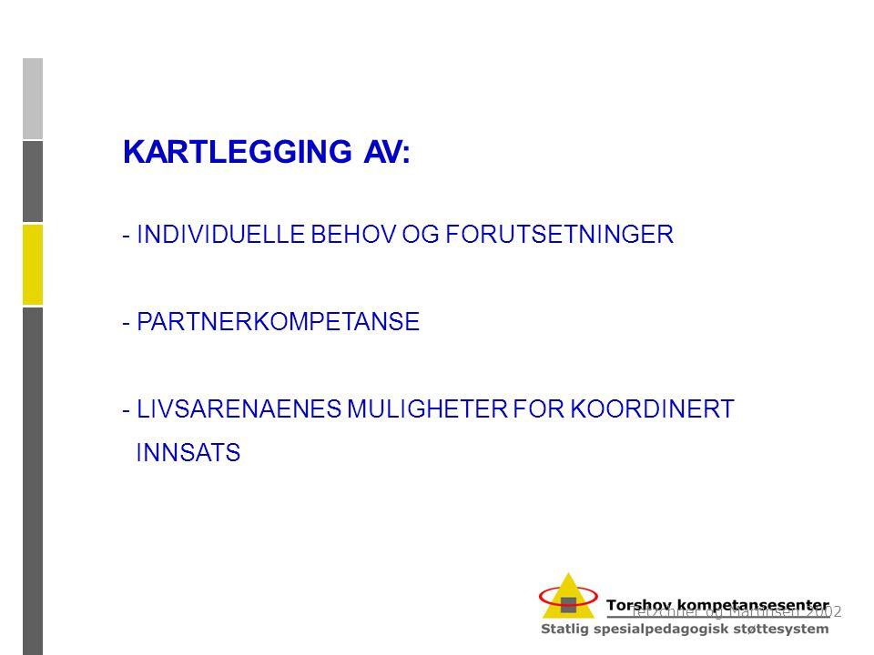 KARTLEGGING AV: - INDIVIDUELLE BEHOV OG FORUTSETNINGER