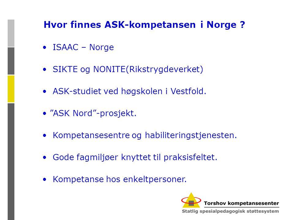 Hvor finnes ASK-kompetansen i Norge