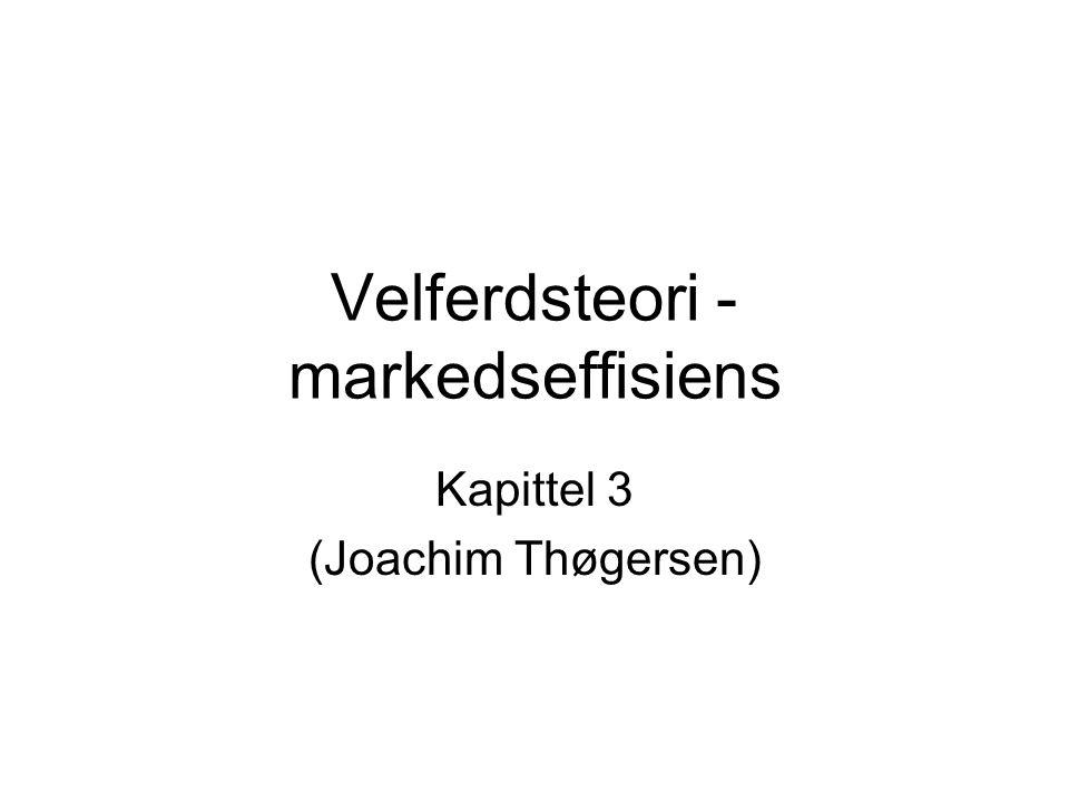 Velferdsteori - markedseffisiens