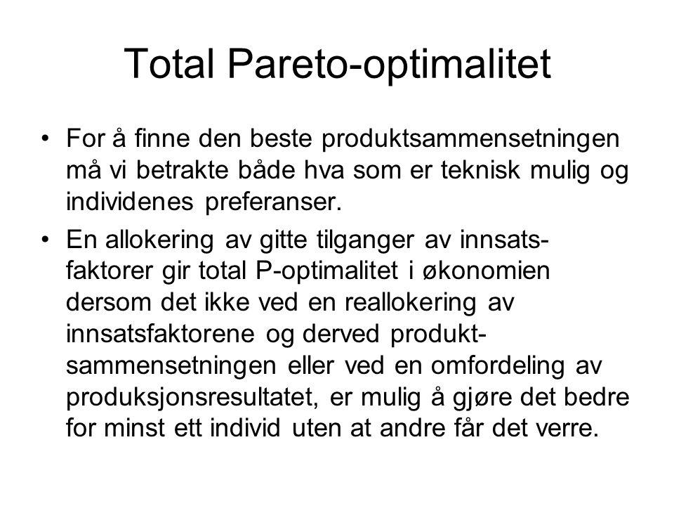 Total Pareto-optimalitet