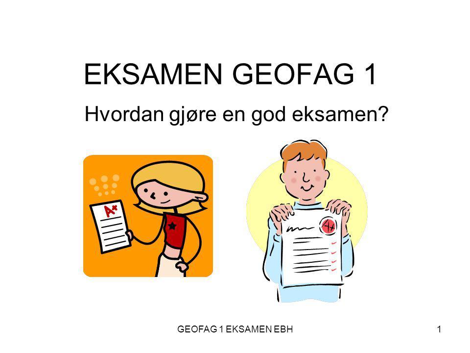 Hvordan gjøre en god eksamen