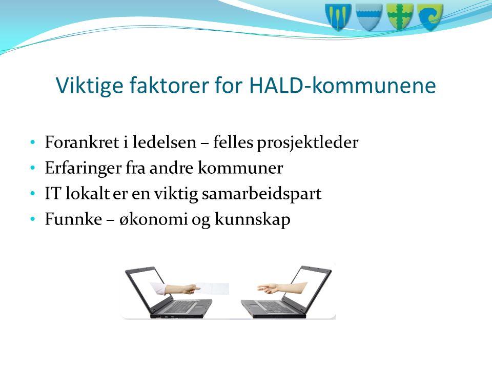 Viktige faktorer for HALD-kommunene
