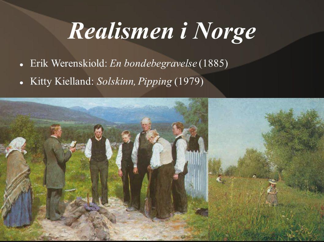Realismen i Norge Erik Werenskiold: En bondebegravelse (1885)