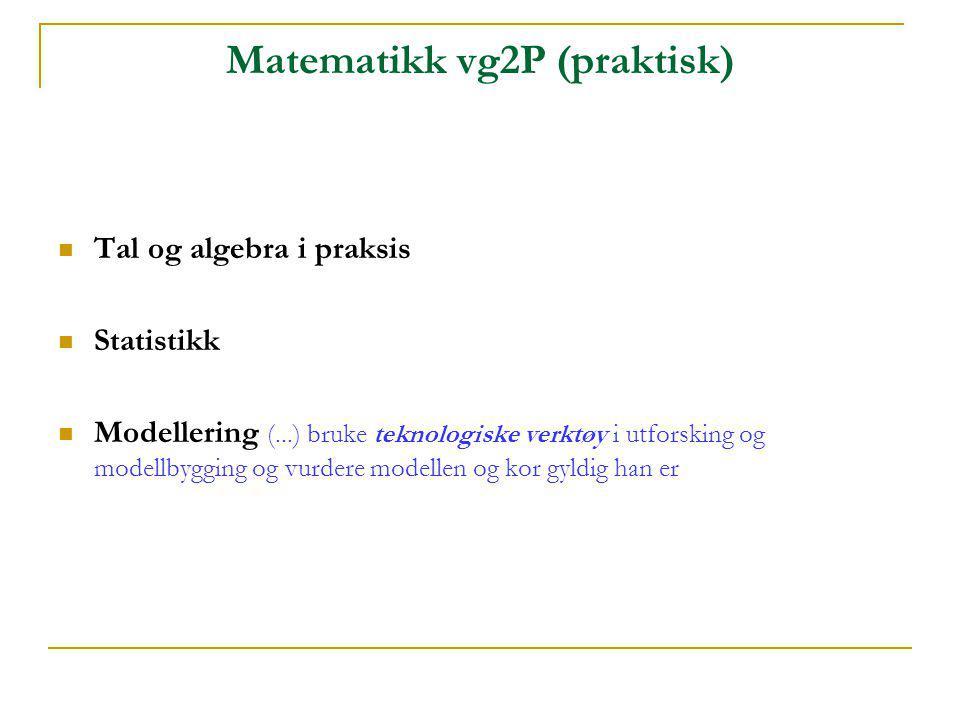 Matematikk vg2P (praktisk)