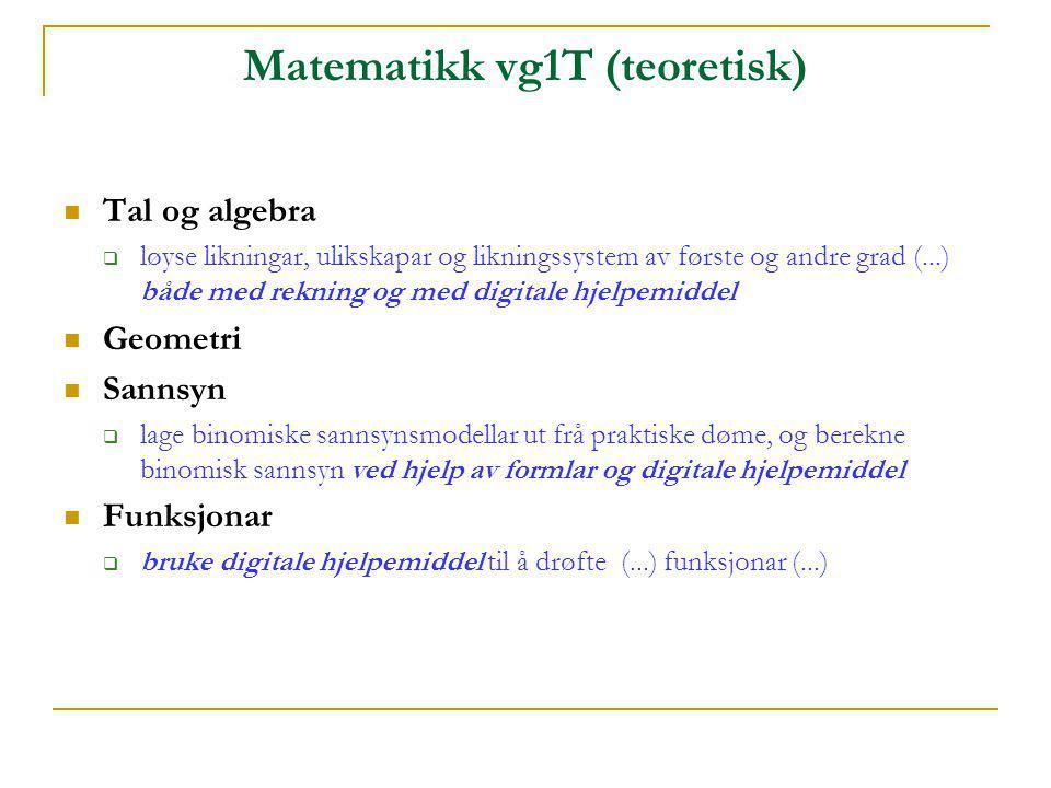 Matematikk vg1T (teoretisk)