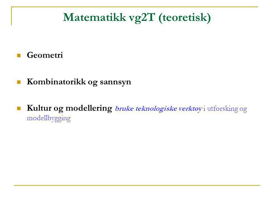 Matematikk vg2T (teoretisk)