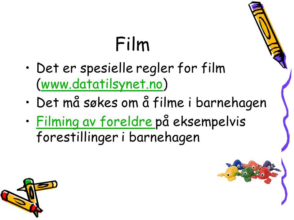 Film Det er spesielle regler for film (www.datatilsynet.no)