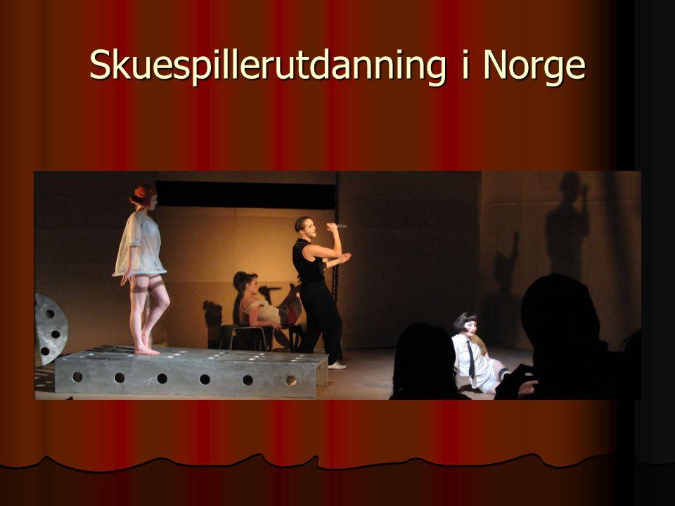 Skuespillerutdanning i Norge