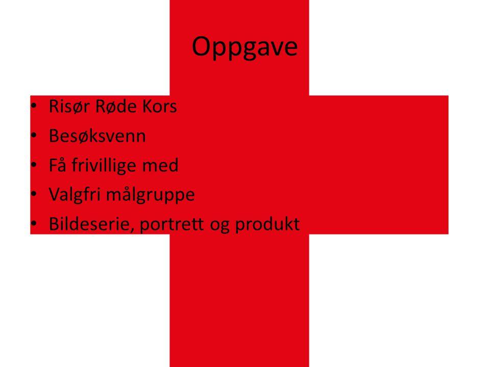 Oppgave Risør Røde Kors Besøksvenn Få frivillige med Valgfri målgruppe
