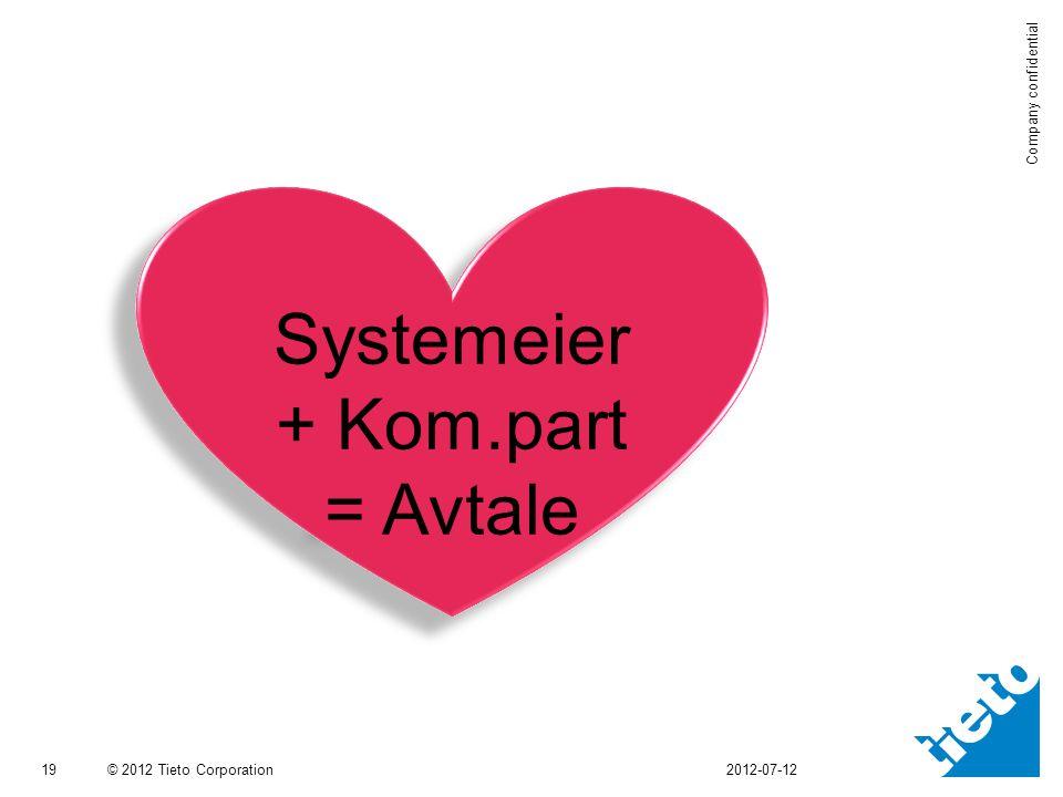 Systemeier + Kom.part = Avtale