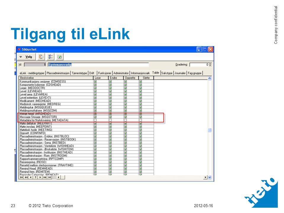 Tilgang til eLink 2012-05-16